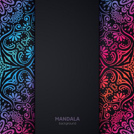 Vector luxury wedding invitation with mandala Vectores