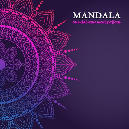 Vector luxury wedding invitation with mandala  イラスト・ベクター素材
