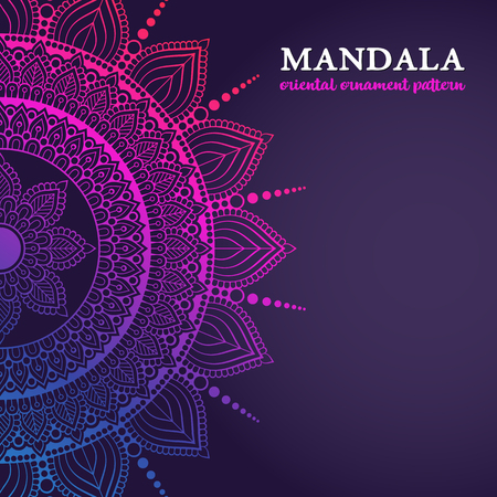 Vector luxury wedding invitation with mandala Ilustrace