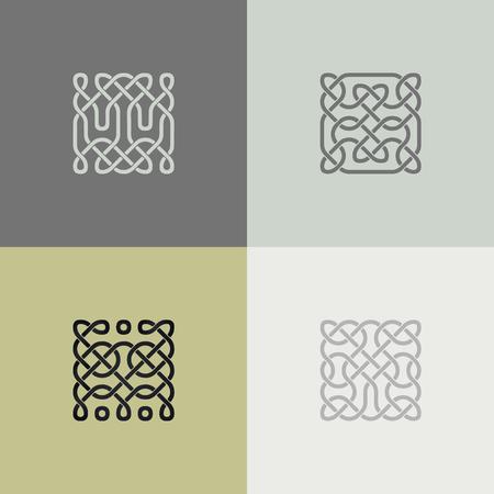 民族ベクトル ケルト調-オーナメント。抽象的な装飾的なパターン