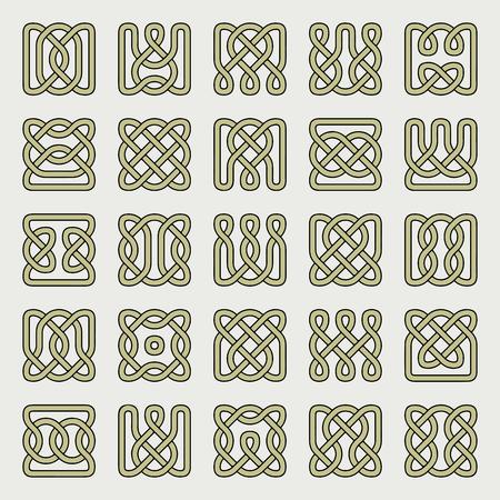 民族ケルト調-オーナメント抽象的なデザイン。  イラスト・ベクター素材
