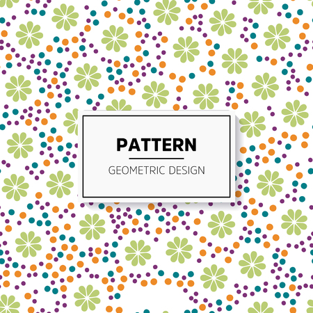 Abstract colorful mosaic seamless pattern of geometric shapes. Illusztráció