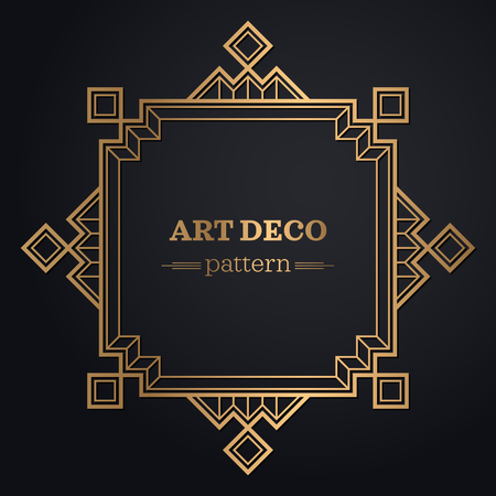 gatsby art deco background. abstract geometric design