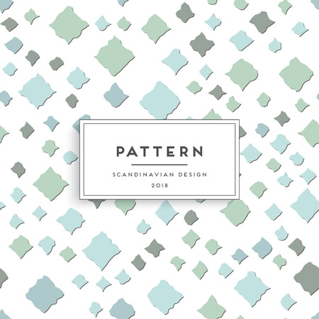Scandinavian floral seamless pattern Vector illustration.