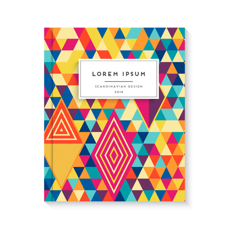 abstract cover book with hand draw vector ornament Illustration