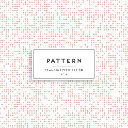 Scandinavian circles seamless pattern.
