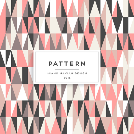 Scandinavian triangular seamless pattern. Illustration