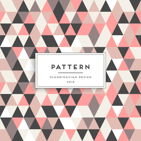 Scandinavian triangular seamless pattern