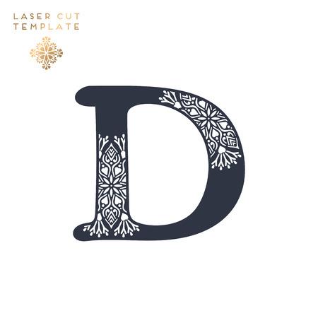 Letter D laser cut template design