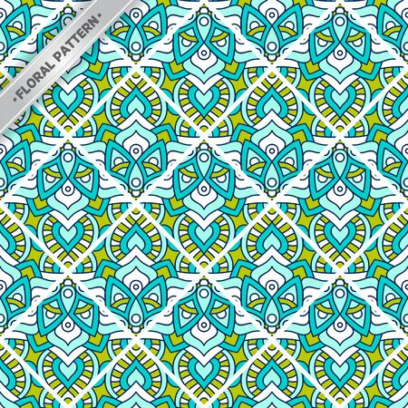 Seamless pattern tile. Vintage decorative ornament elements Illustration