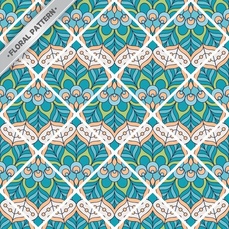 Seamless pattern tile. Vintage decorative ornament elements Stock Vector - 99397346