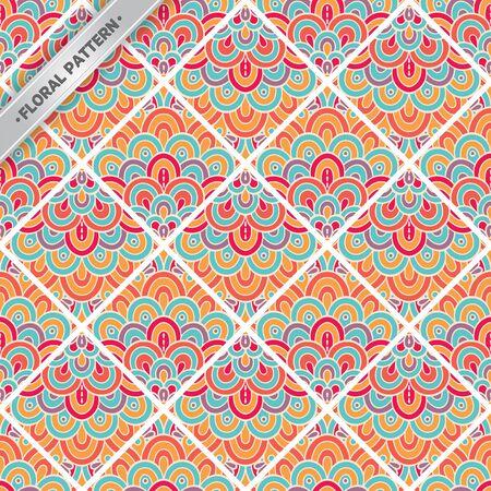 Seamless pattern tile. Vintage decorative ornament elements Stock Vector - 99400567
