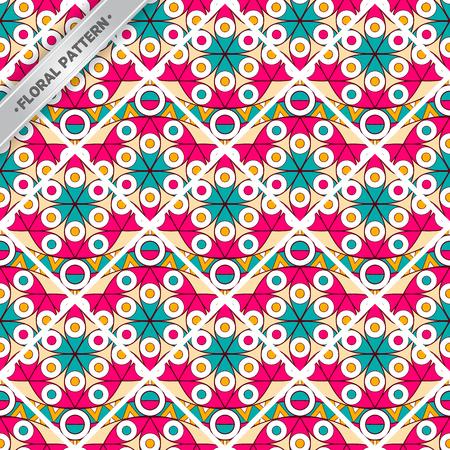 Seamless bohemian style tile pattern. Stock Vector - 99407999