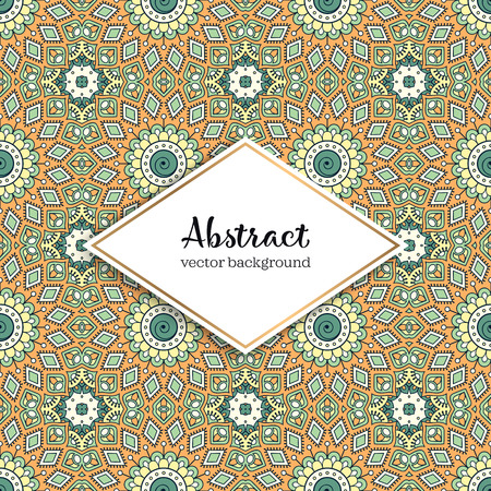 Seamless pattern tile. Vintage decorative elements. Hand drawn background. Stock Vector - 101060637