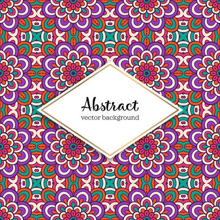 Seamless pattern tile. Vintage decorative elements. Hand drawn background.