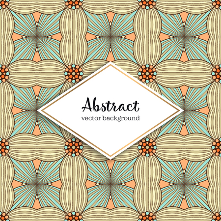 Seamless pattern tile. Vintage decorative elements. Hand drawn background Illustration