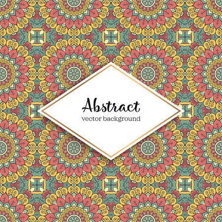 Seamless pattern tile. Vintage decorative elements. Hand drawn background Stock Vector - 101018807
