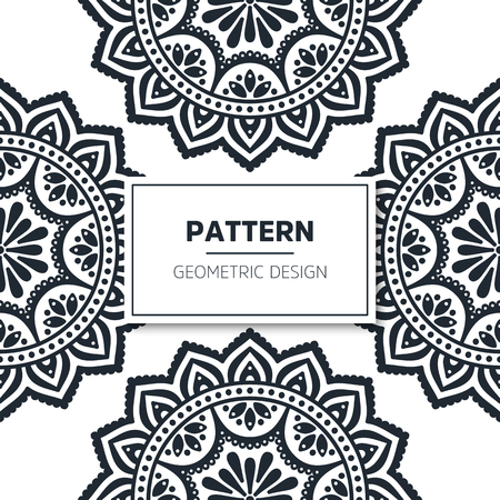Seamless pattern tile. Vintage decorative elements. Hand drawn background Vector Illustration
