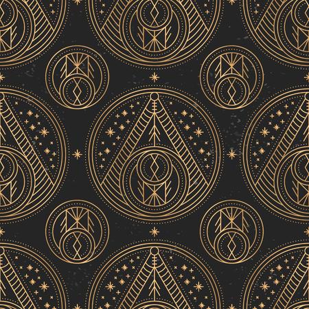 Luxury gold monogram. Vintage decorative elements. Ornamental floral business cards, oriental pattern Stock Vector - 107968468