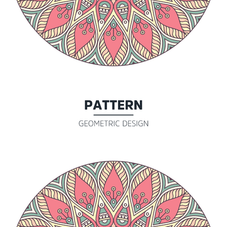 Set of Indian country ornament illustration concept. Ethnic Colorful Henna Mandala design, on festive and glitter bokeh background.