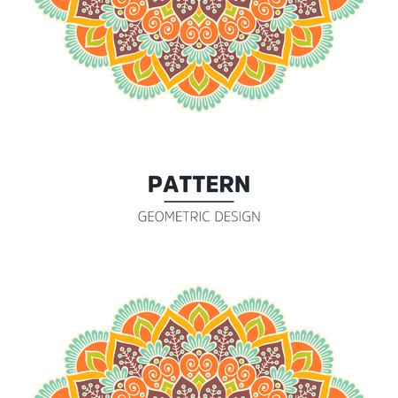 Ensemble de concept d'illustration d'ornement de pays indien. Conception ethnique colorée de mandala de henné, sur fond de bokeh de fête et de paillettes. Vecteurs