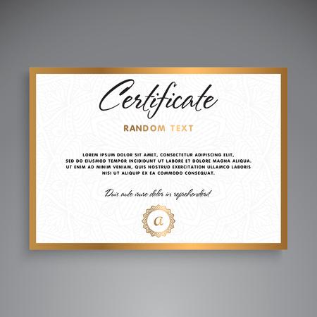 Professional Certificate Template Design Vector Illustration