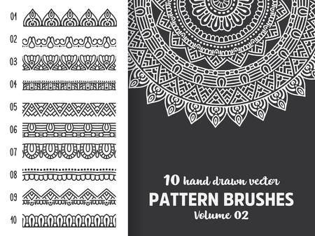 Brush collection with Mandala Illustration