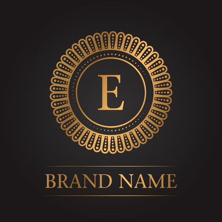 Luxury gold template monogram 矢量图像