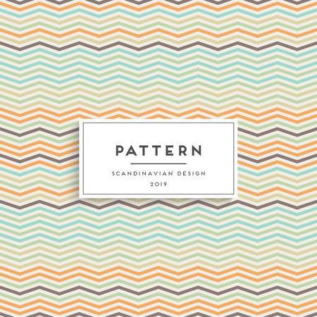 Scandinavian floral seamless pattern. Fabric print design