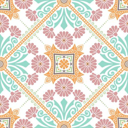 Decorative tile pattern design. Vector illustration. Stock Illustratie