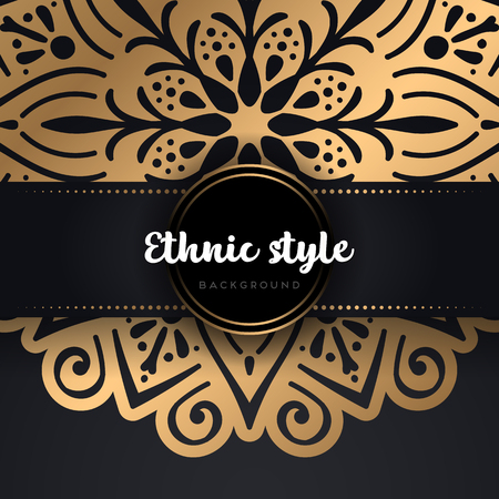 Ornament beautiful background Geometric circle element made in vector