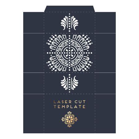 Vector wedding card laser cut template Banque d'images - 132082429