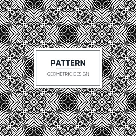 Seamless mandala islamic pattern. Vintage islamic elements Vector Illustratie
