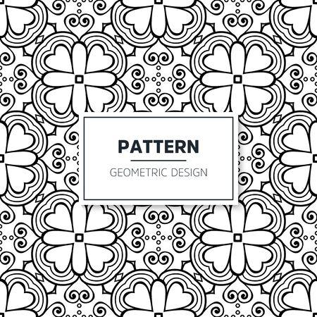 Seamless mandala islamic pattern. Vintage islamic elements