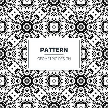 Seamless mandala islamic pattern. Vintage islamic elements Vector Illustration