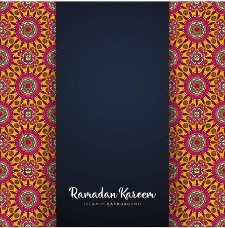 ramadan kareem greeting card islamic design with mandala