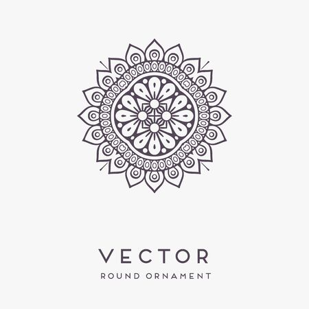 Ornament beautiful card with mandala. Geometric circle element made in vector Vector Illustratie