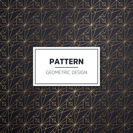 Geometric striped ornament. Vector gold seamless patterns. Modern stylish texture. Gold linear braids. Trendy gold glitter texture  イラスト・ベクター素材