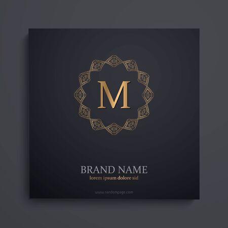 luxury art deco golden classic linear monochrome minimal hipster geometric vintage vector monogram, frame , border , label for your logo badge or crest