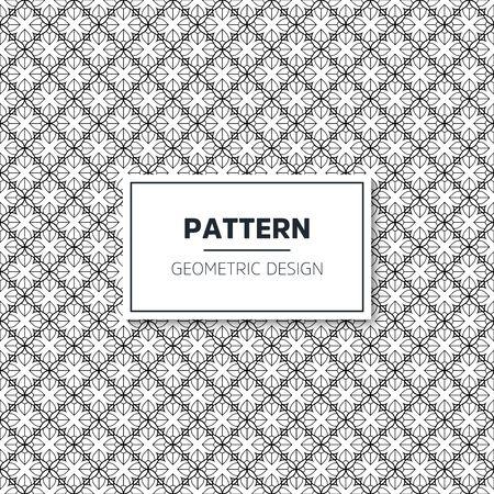 Seamless geometric pattern in op art design. Vector art. 스톡 콘텐츠 - 145516082
