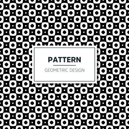 Seamless geometric pattern in op art design. Vector art. 스톡 콘텐츠 - 145516090