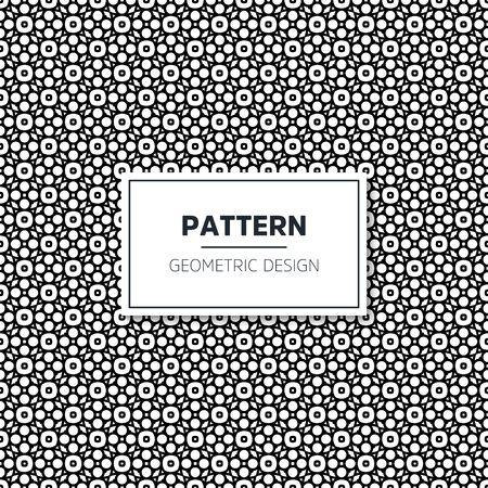 Seamless geometric pattern in op art design. Vector art. Vector Illustration