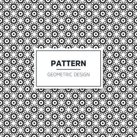 Seamless geometric pattern in op art design. Vector art.