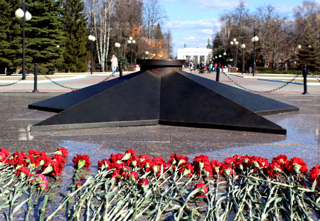 the eternal flame of the memory of those killed in World War II