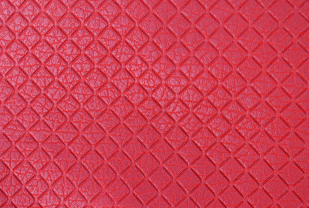 texture red artificial leather diamond pattern matt