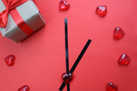 Clock made of hearts