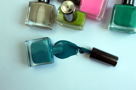 Nail polish of different colors