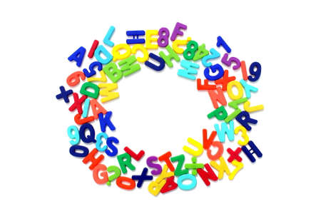 Bright multicolored letters, english alphabet, isolated