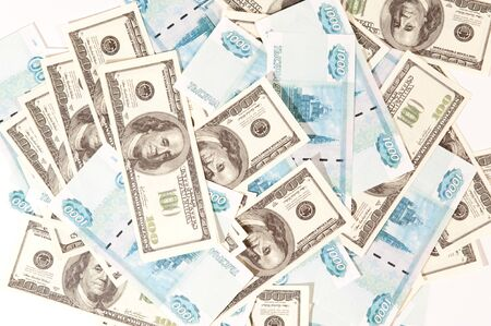 scattered money bills