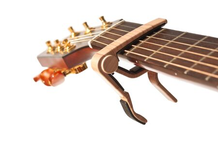 guitar neck with capo